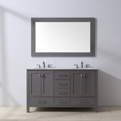 Ankney 60 Double Bathroom Vanity Set with Mirror