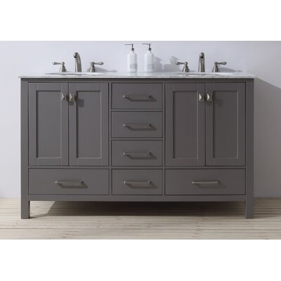 Ankney 60 Double Sink Bathroom Vanity