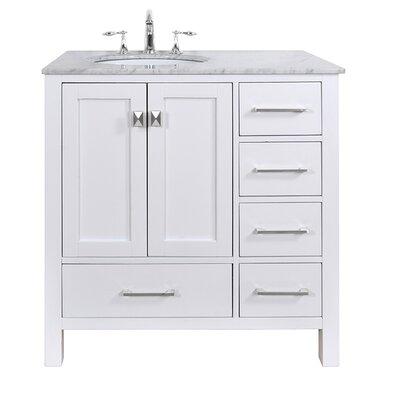 Ankney 36 Single Bathroom Vanity Set Base Finish: Pure White