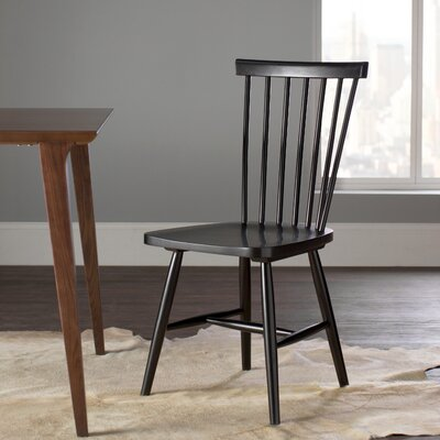 Driftwood Side Chairs (Set of 2) Finish: Black
