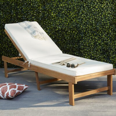 Matheny Lounge Chair Color: Teak Brown / Beige