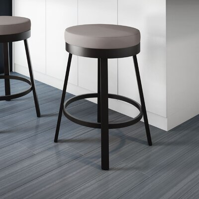 Dealba 26 Swivel Bar Stool Finish: Textured Dark Brown/Warm Grey