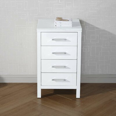 Frausto 4 Drawer Chest Finish: White