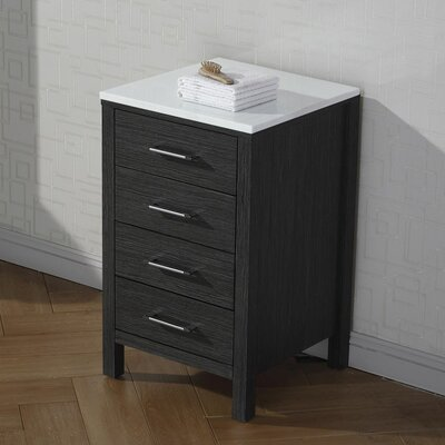 Frausto 4 Drawer Chest Finish: Zebra Gray