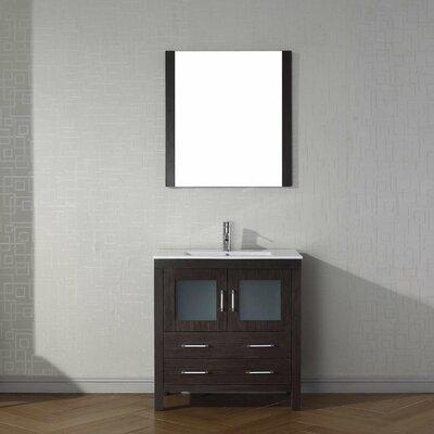 Frausto 32 Single Bathroom Vanity Set with Mirror Base Finish: Espresso