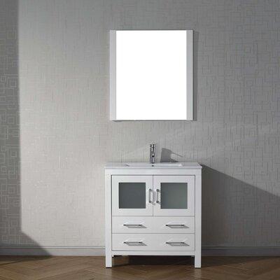 Frausto 32 Single Bathroom Vanity Set with Mirror Base Finish: White