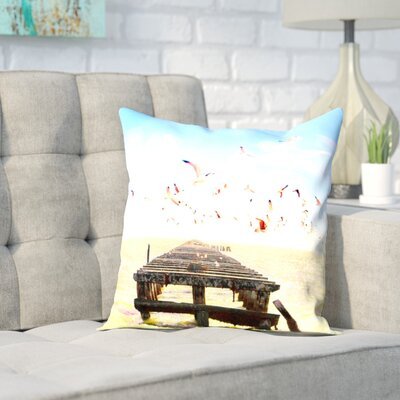Mina Teslaru Berkeley Marina Throw Pillow Size: 16 H x 16 W x 2 D