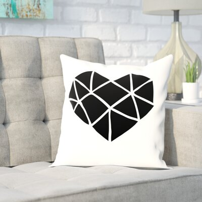 Brett Wilson Polygon Heart Throw Pillow Size: 20 H x 20 W x 2 D