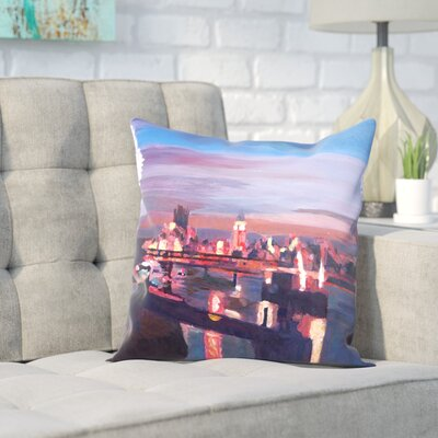 Markus Bleichner Giron London Eye Night Throw Pillow Size: 16 H x 16 W x 2 D