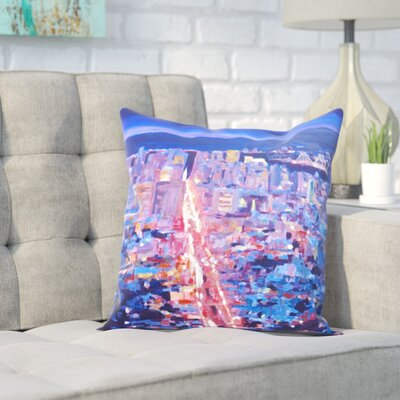 Markus Bleichner Lollar San Francisco Market Street Throw Pillow Size: 16 H x 16 W x 2 D