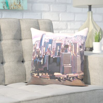 Markus Bleichner Granli Manhattan Freedom Throw Pillow Size: 16 H x 16 W x 2 D