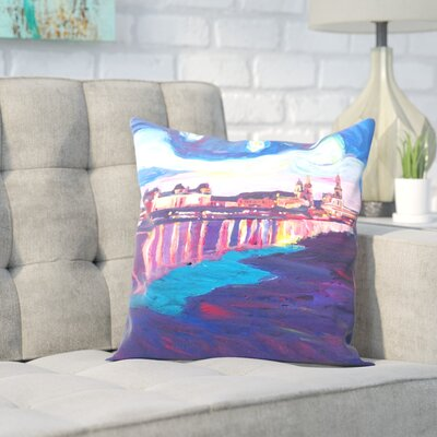 Markus Bleichner Morena Starry Night in Dresden Throw Pillow Size: 18 H x 18 W x 2 D