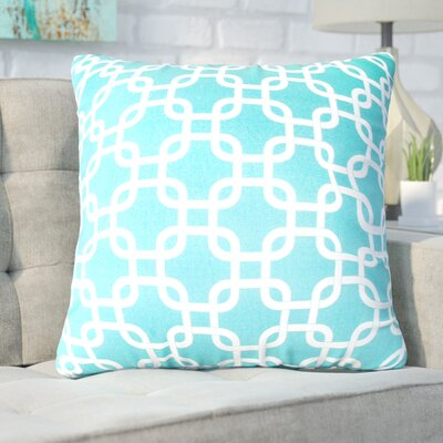 Banas Indoor/Outdoor Throw Pillow Fabric: Teal, Size: Large