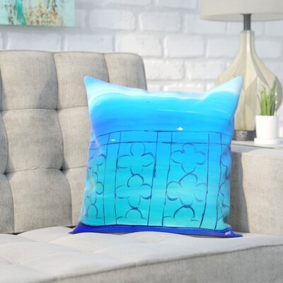 Markus Bleichner Buch Romantic Balcony in the Mediterranean Throw Pillow Size: 16 H x 16 W x 2 D