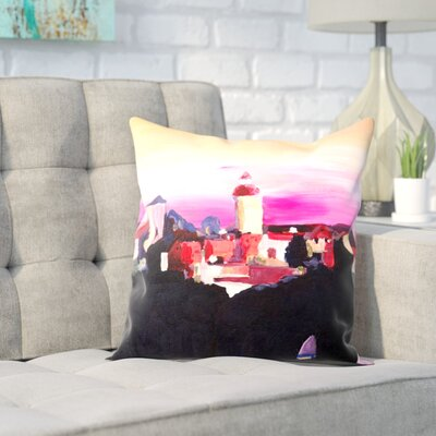 Markus Bleichner Omalley Nuremberg with Castle at Dusk Throw Pillow Size: 18 H x 18 W x 2 D
