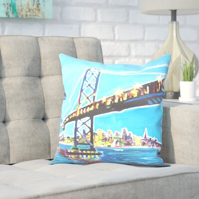 Markus Bleichner Okamoto San Francisco Oakland Throw Pillow Size: 16 H x 16 W x 2 D