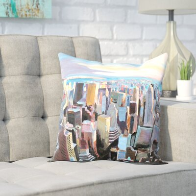 Markus Bleichner Risinger NYC Sunlight 2 Throw Pillow Size: 16 H x 16 W x 2 D