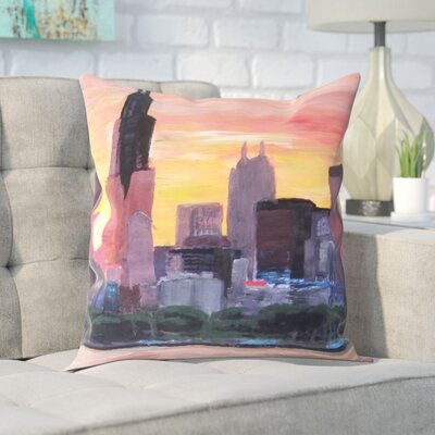 Markus Bleichner Dosch Sunset Red Throw Pillow Size: 20 H x 20 W x 2 D