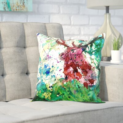 Markus Bleichner Beaudoin Party Deer Throw Pillow Size: 20 H x 20 W x 2 D