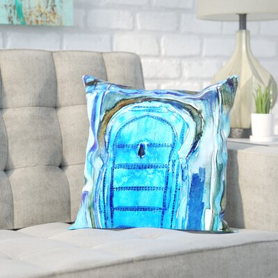 Markus Bleichner Simard Chef Chaouen Morocco Blue Door Throw Pillow Size: 18