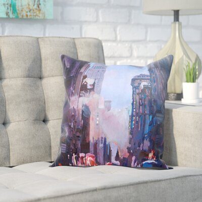Markus Bleichner Bueno Ny Street Scene Empire State Buildingg 2 Throw Pillow Size: 16 H x 16 W x 2 D