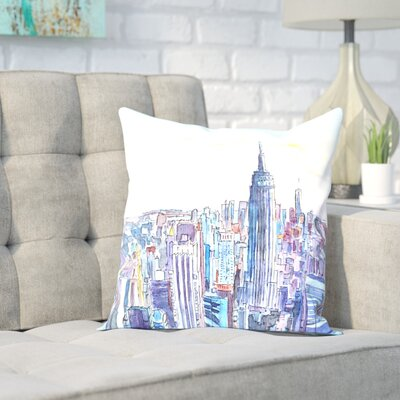 Markus Bleichner Corrado NYC Manhattan Skyline Neu Throw Pillow Size: 16 H x 16 W x 2 D