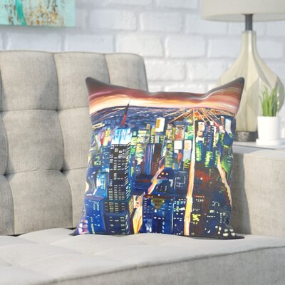 Markus Bleichner Liptak Empire State Buildingg New City Night 2 Throw Pillow Size: 18 H x 18 W x 2 D