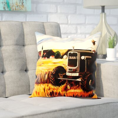 Markus Bleichner Seidman The Farmer Throw Pillow Size: 16 H x 16 W x 2 D