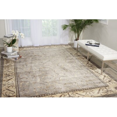 Amador Silver Area Rug Rug Size: 53 x 75