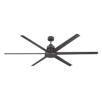 72 Aube 6 Blade Ceiling Fan Finish: Brushed Nickel