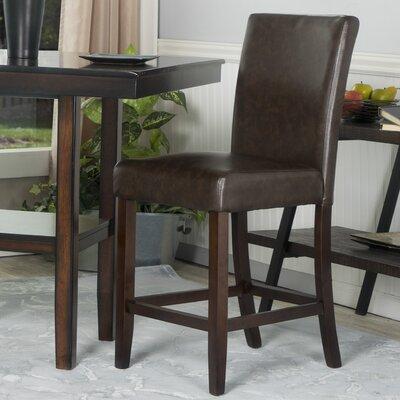 Bronk 24 Bar Stool Upholstery: Chocolate