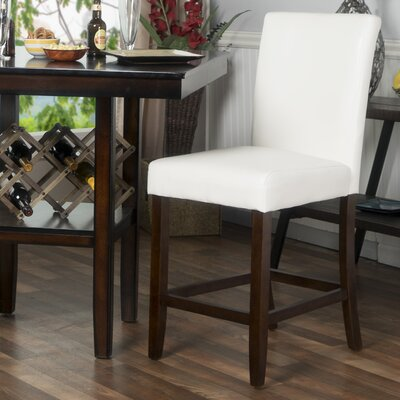 Cher 24 Bar Stool Upholstery: White