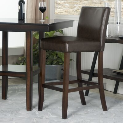 Cher 30 Bar Stool Upholstery: Chocolate