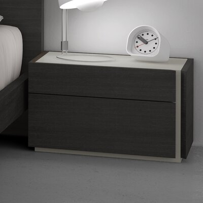 Comet Right 2 Drawer Nightstand