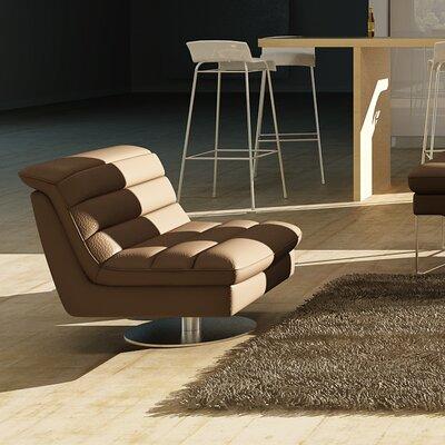 Braylen Swivel Lounge Chair Upholstery: Chocolate