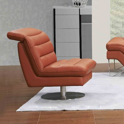 Braylen Swivel Lounge Chair Upholstery: Pumpkin