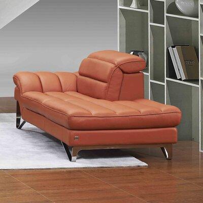Braylen Lounge Chair Upholstery Color: Pumpkin