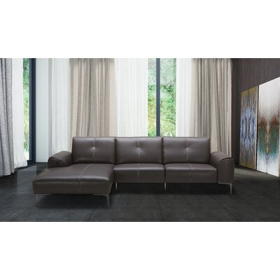 Cronius Leather Sectional Orientation: Left Hand Facing