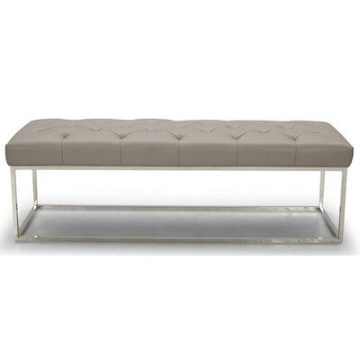 Brentwood Lux Faux Leather Bedroom Bench Upholstery: Gray BRAY3409 38185040