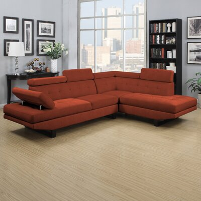 Grainger Sectional Upholstery: Orange