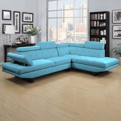 Grainger Sectional Upholstery: Turquoise Blue