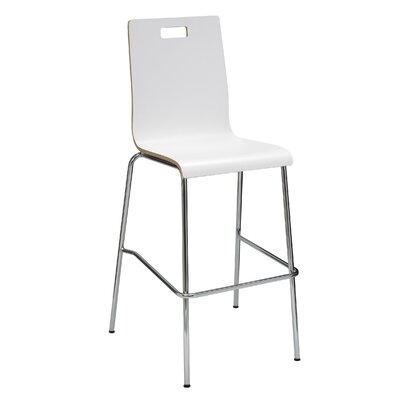 Aycock 30 Bar Stool Upholstery: White