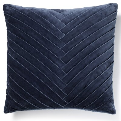 Northwick Cotton Velvet Throw Pillow Color: Dark Denim