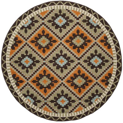 Henbury Brown Indoor/Outdoor Area Rug Rug Size: Round 67