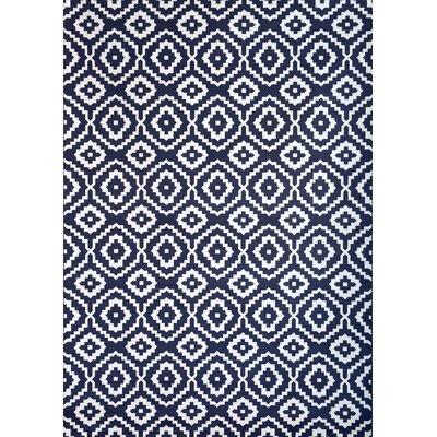 Foulds Navy/White Area Rug Rug Size: 710 x 112