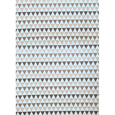 Brayden Studio Foulds Ivory/Charcoal/Brown Area Rug