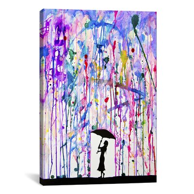 'Deluge' Painting Print on Wrapped Canvas Size: 12