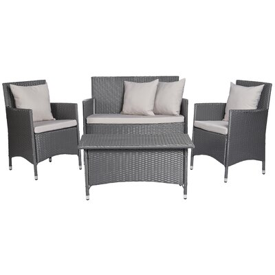 Fason 4 Piece Deep Seating Group with Cushions