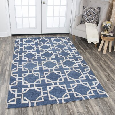 Arcand Hand-Tufted Blue Area Rug