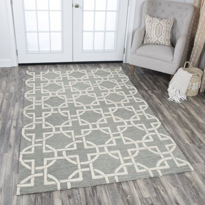 Arcand Hand-Tufted Gray Area Rug